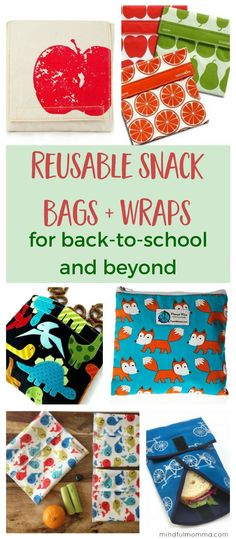 Roundup of the best reusable snack bags and sandwich wraps that are perfect for back-to-school lunches, on-the-go snacks, traveling and anytime you need waste free, zero waste lunch gear. Reusable Sandwich Bags, Reusable Bags, Furoshiki, Snack Bags, Lunch Bags, Lunch Snacks, On The Go Snacks, Food Waste, Foodblogger
