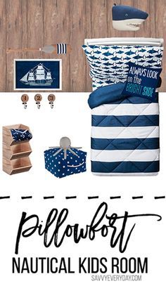Nautical Inspired Kids Room Design - Savvy Every DaySavvy Every Day