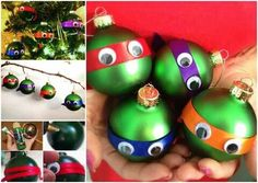 cute idea DIY TMNT ornaments