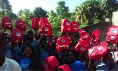 SchoolBags distributed to children in Haiti