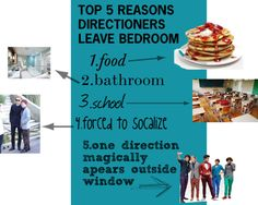 """""""top five reasons directioners leave their bedroom"""" by revosberg on Polyvore"""