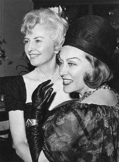 Barbara Stanwyck and Gloria Swanson.....Uploaded By www.1stand2ndtimearound.etsy.com