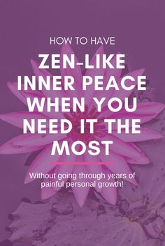 How to have zen-like inner peace when you need it the most (without going through years of painful personal growth!). FREE Webinar https://www.pinchmeliving.com/how-to-have-zen-like-inner-peace-webinar/