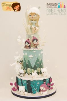 Frozen story Cake by MaryWay Fondant Cakes, Cupcake Cakes, Frozen Party Cake, Queen Cakes, French Cake, Cake Packaging, Baby Girl Cakes, Noel Christmas, Christmas Cakes