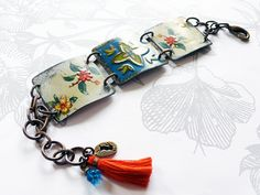 I like this bracelet except I would not use the tassel or maybe a different color one