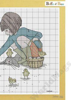 Bella, la Belle and Boo Cross Stitch For Kids, Just Cross Stitch, Cross Stitch Needles, Cross Stitch Borders, Cross Stitch Baby, Modern Cross Stitch, Cross Stitch Charts, Cross Stitch Designs, Cross Stitching