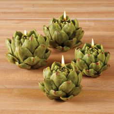 **Please note this item is final sale and is not eligible for return or exchange. Set of 2 Artichoke Tealight Candles design by Twos Company. Please allow 1 - 2 weeks to ship out and receive tracking. Candle Lanterns, Tea Light Candles, Tea Lights, Candleholders, Unique Home Decor, Home Decor Items, Unique Candles, Tuscan Wedding, Burke Decor