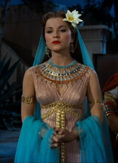 "Debra Paget in ""The Ten Commandments""! I love classic hollywood costume epics! Gorgeous colors!"