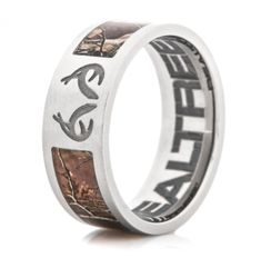 Realtree Camo and Antler logo ring