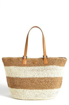 Tory Burch Stripe Tote - this might have to come to Puerto Rico with me in March...