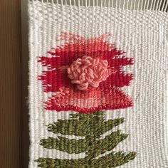 A little floral weaving adding some texture-hoping for spring... #weaving #weavings #wovenart #woven #loom #flowers #flower #fiberartist…