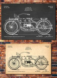 Patent of HARLEY-DAVIDSON Motorcycle 1919 by CatkumaPatentPress