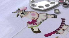 Mulher.com 26/08/2013 Gislaine Mara - Pintura Country no Pano de Prato P...