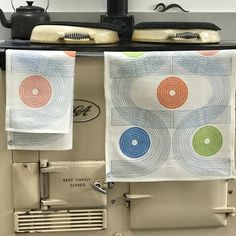 Contemporary U.Dot Component Tea Towel: Hand Screenprinted by AlyStoreyTextiles on Etsy
