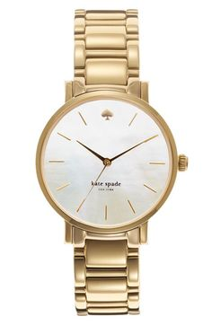 love this giant watch from Kate Spade