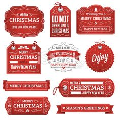 Christmas Labels Royalty Free Stock Vector Art Illustration