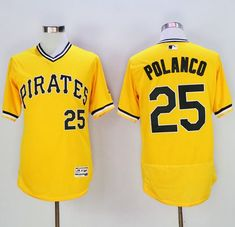 da8a15881ac Pirates  25 Gregory Polanco Gold Flexbase Authentic Collection Cooperstown  Stitched MLB Jersey