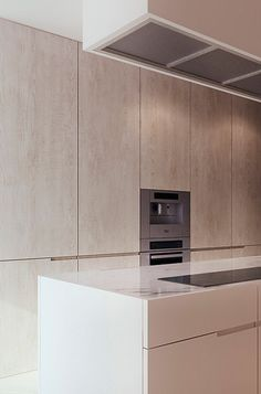 Luxury Kitchens Inspiration for Touch-Latch Cabinets for Kitchen -Y House project in Poland by Tamizo Architects