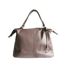 Sandy Italian Taupe Leather Satchel Handbag - £64.99 Italian Leather Handbags, Leather Satchel Handbags, Taupe, Beige, Italian Women, Tote Bags, Shoe Bag, Lady, Natural