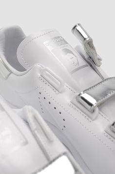 buy online 957cf 38445 ADIDAS X RAF SIMONS Silver Triple Strap Stan Smith Sneakers. Stan Smith  Sneakers, Men s