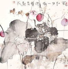 【国画】周华君《泼彩荷花》