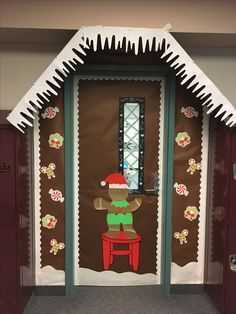 Gingerbread House door decorating