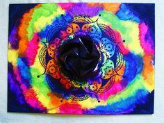 origami paper - water colors