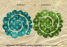 SIMPLY CRAFTS: August 2012 - TONS of different flower patterns to make rolled flowers.
