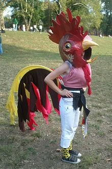 Rooster costume from my first Peoplehood! Created and worn by the ever-impressive Liza.