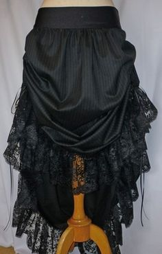 Get Ready For HALLOWEEN!! :oD Xx    DUCHESS SATIN BUSTLE BURLESQUE GOTHIC WICCAN SKIRT DRESS NEW CUSTOM MADE SIZE  £49.99