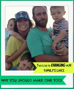 This List Is Changing Our Family's Lives, Why You Should Make One Too