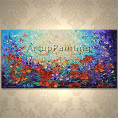 Find More Painting & Calligraphy Information about Modern Hand Painted palette knife 3D texture Flower and Tree on Canvas Oil Painting Wall Pictures For Living Room decorative 12 ,High Quality picture helicopter,China knife brand Suppliers, Cheap picture record from ArtupPainting on Aliexpress.com