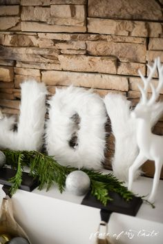 DIY FUR LETTERS - Easy, quick and so festive holiday decor!! Placeofmytaste.com