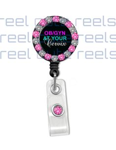 Ob/Gyn At Your Cervix Nurse Badge Reel Id Holder by reelcutereels, $10.99