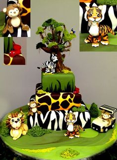 Absolutely LOVE this adorable cake  Go Jungle!!  By: KarenPadilla  from cakecentral.com