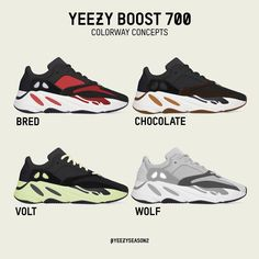 b8e70fc927c1b2 Yeezy Boost 700 Colorway Concepts Yeezy Boost