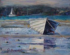 Original oil Painting Nautical BOAT art by JBeaudetStudios on Etsy