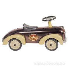 Kjøp Baghera Brun Sittebil i metall hos Mitt Rom Wooden Car, Bugaboo, Nursery, Pure Products, Chocolate, Toys, Design, Lovely Things, Birthday