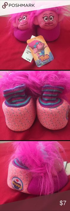 Brand new with tags troll slippers Brand new with tags. Retail $20. Size 7/8 trolls Shoes Slippers
