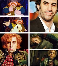 """The Last Unicorn"" live action fancast: Sacha Baron Cohen as Captain Cully (courtesy of theboyfallsfromthesky.tumblr.com)"