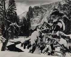 ANSEL ADAMS, (American, 1902-1984), SENTINEL ROCK, WINTER DUSK, YOSEMITE NATIONAL PARK, CALIFORNIA 1944, gelatin silver print;, 7 1/...