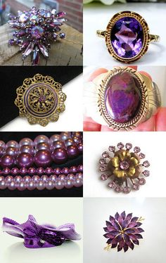 Make Mine Purple Please! Vintage Jewelry Team Holiday Gift Guide by Marirose on Etsy--Pinned with TreasuryPin.com