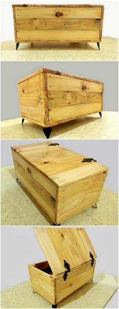This is a two in one furniture option for your household use. Do you want to know how? Well, this amazing wood pallet creation of storage box that is superbly making you offer with the placement of the table shelf too. The table and so as the storage box are resting on top of it.