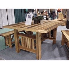 These gorgeous Villa Cedar Dining Tables come in 4' square or 5' long tables.  Really lovely!