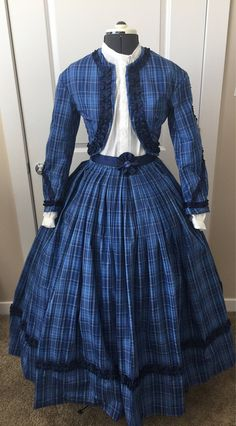 Custom 4 Piece Civil War High Fashion Outfit Southern Belle