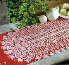 مفرش كروشيه بيضاوي بالباترون - oval crochet doily ~ شغل ابره NEEDLE CRAFTS