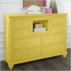 adorable yellow dresser