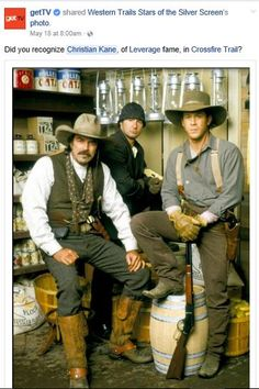 5-18-2017 getTV... Facebook share of #ChristianKane in pic for Crossfire Trail > https://www.facebook.com/gettv/posts/817293918423140?match=Y2hyaXN0aWFuIGthbmU%3D