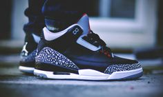 Air Jordan III Retro Black Cement. #sneakers