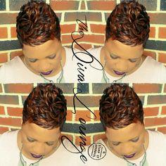 The Diva Lounge Hair Salon Montgomery, AL Larnetta Moncrief / Stylist, Owner Short Sassy Hair, Very Short Hair, Short Hair Cuts, Short Hair Styles, Pixie Cuts, Short Pixie, Pixie Styles, Cute Hairstyles For Short Hair, Black Girls Hairstyles